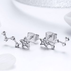 Cercei din argint Zig Zag Star