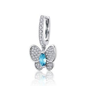 Cercel din argint Blue Butterfly