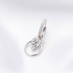 Cercel din argint Crystal Bowknot