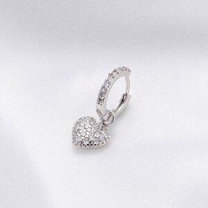 Cercel din argint Crystal Heart
