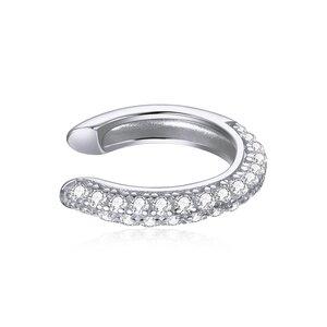 Cercel din argint Crystals Clear Clip