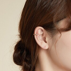 Cercel din argint Ear Clip Golden
