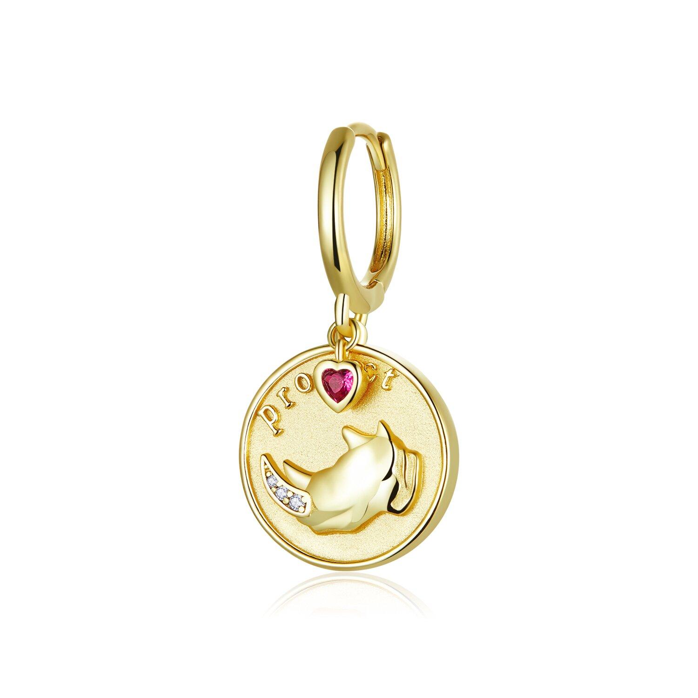 cercel din argint golden heart coin 87676 4