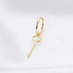 Cercel din argint Golden Key