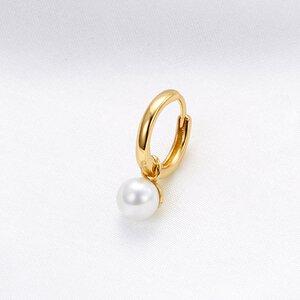 Cercel din argint Hanging Pearl Golden