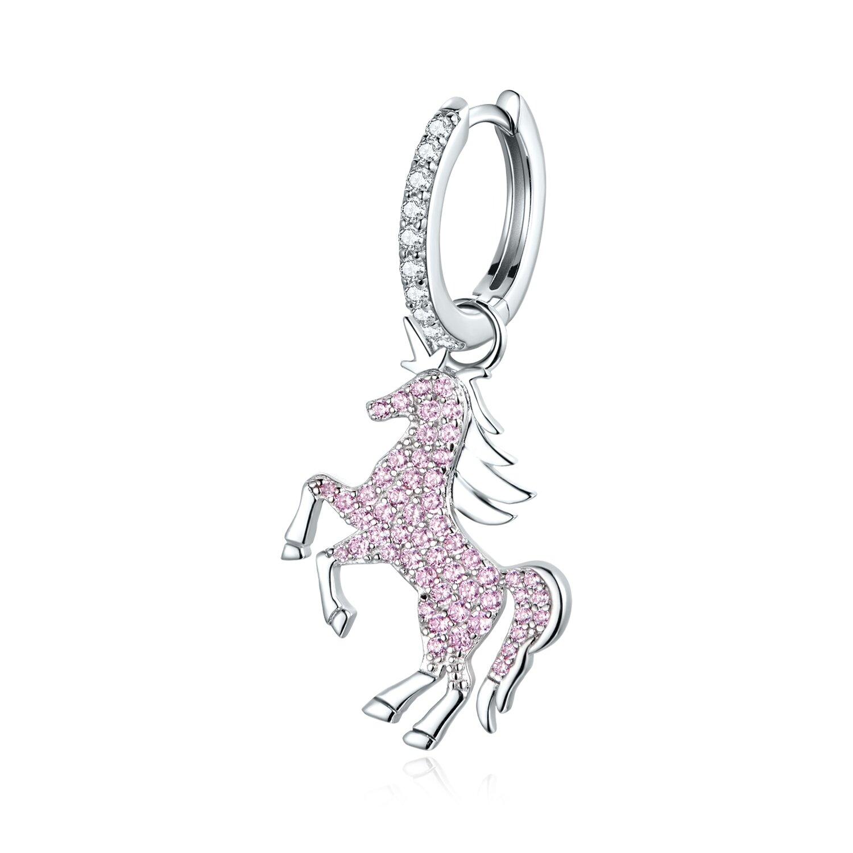cercel din argint pink unicorn 86965 4