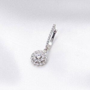 Cercel din argint Round Crystal