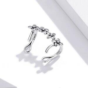 Cercel din argint Silver Simple Flowers
