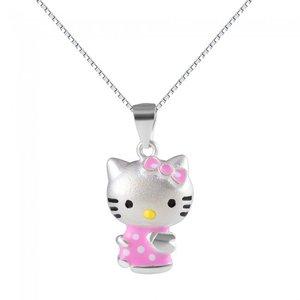 Colier cu lantisor din argint Hello Kitty