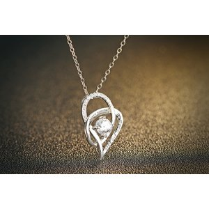 Colier cu lantisor din argint Loving Heart