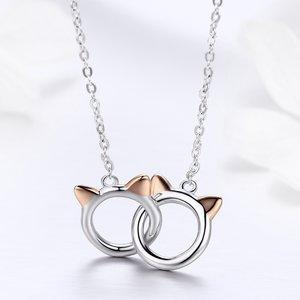 Colier din argint 925 Cat Handcuffs