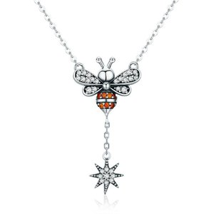Colier din argint 925 Crystal Bee