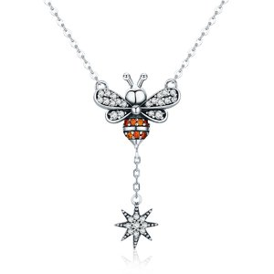 Colier din argint 925 Crystal Little Bee