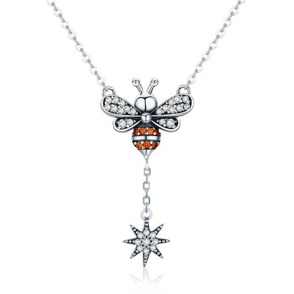 Colier din argint 925 Crystal Little Bee
