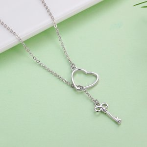 Colier din argint 925 Heart & Key