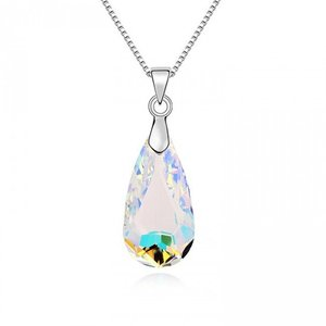 Colier din argint Aurore Boreale Drop cu Cristal Swarovski