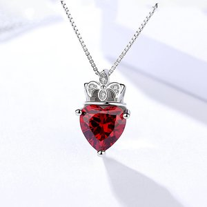Colier din argint Beautiful Red Heart