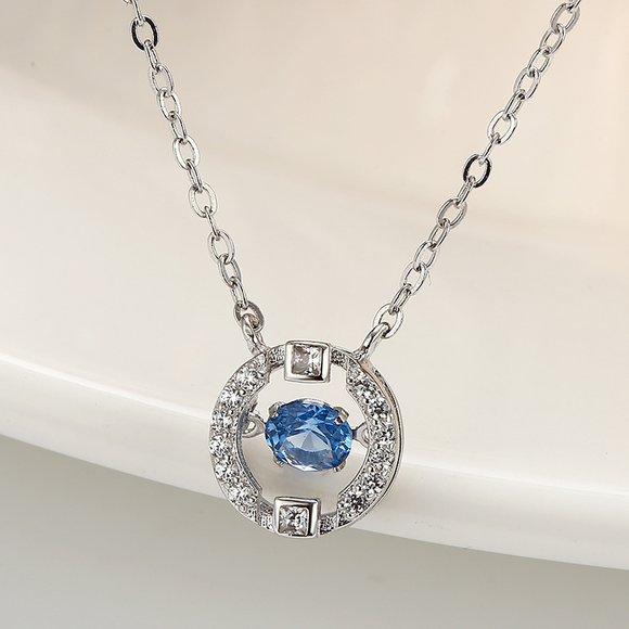 Colier din argint Blue Diamond Look