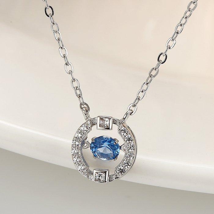 Colier din argint Blue Diamond Look poza 2021
