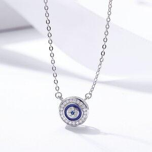Colier din argint Blue Eye