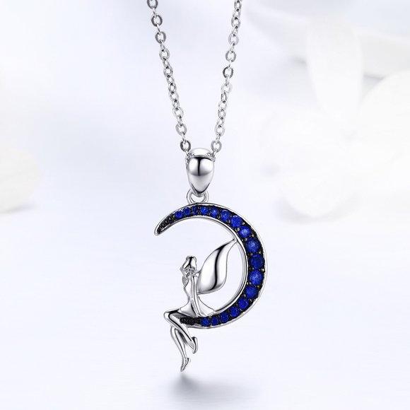 Colier din argint Crystal Blue Fairy