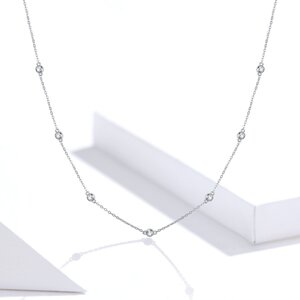 Colier din argint Crystal Dots