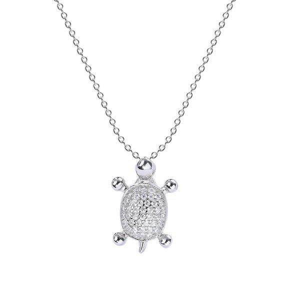Colier din argint Crystal Little Turtle