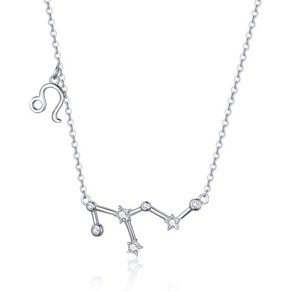 Colier din argint cu Constelatia Leu silver
