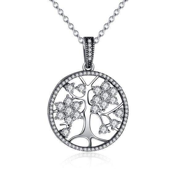 Colier din argint cu Copacul Vietii si Cristale