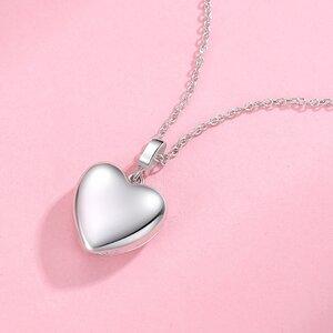 Colier din argint Custom Photo Winged Heart