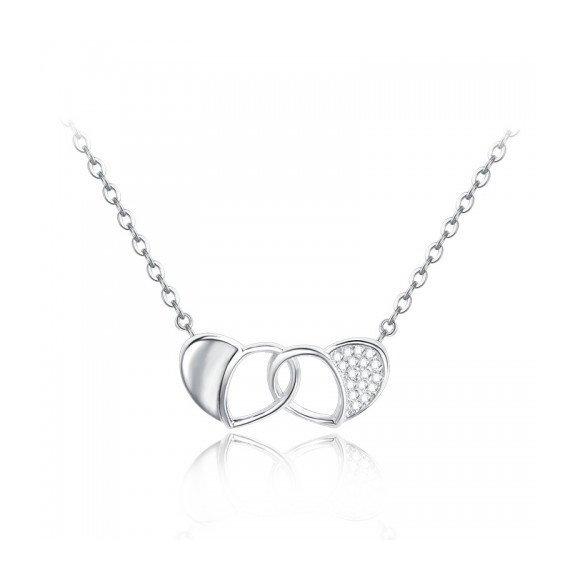 Colier din argint Double Love