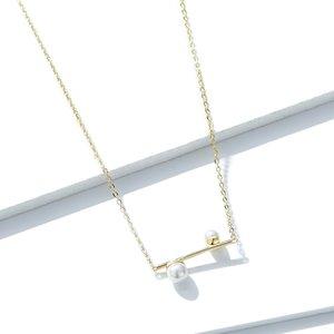 Colier din argint Double Precious Pearls