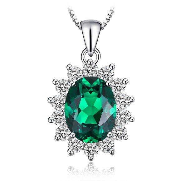 Colier din argint Elegant Emerald