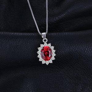 Colier din argint Elegant Garnet