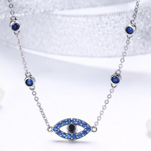 Colier din argint Glamour Blue Eye
