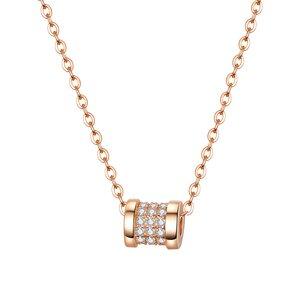 Colier din argint Glamour Crystals Rose Gold