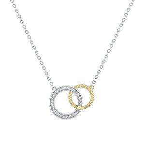 Colier din argint Gold & Silver Circles