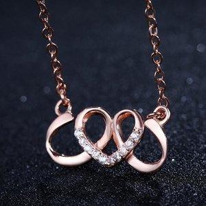 Colier din argint Golden Curly Heart