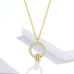 Colier din argint Golden Glamour Circles