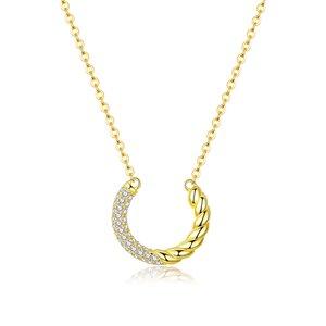 Colier din argint Golden Swirl