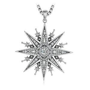 Colier din argint Gothic Star
