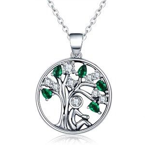 Colier din argint Green Tree