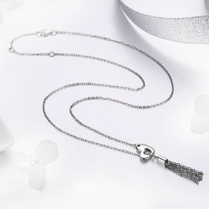 Colier din argint Heart Chain Tassel