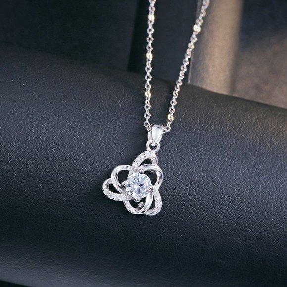 Colier din argint Infinite Diamonds