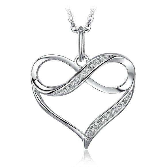 Colier din argint Love Hearts