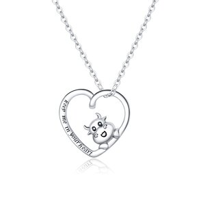 Colier din argint Lovely Cow Heart