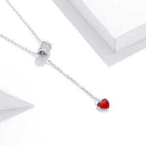 Colier din argint Loving Red Heart