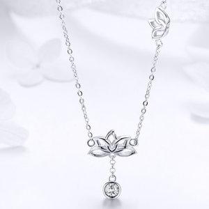 Colier din argint Lucky Lotus