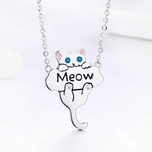 Colier din argint Meow Cat