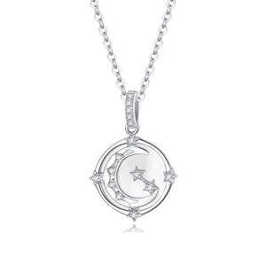 Colier din argint Moon and Star Necklace